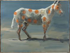 Eric Fischl (American, b. 1948), Untitled (Horse), 1990. Oil on canvas, 45.4 x 60.7cm.