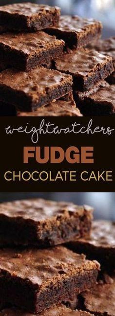 Weight Watcher's Fudge Chocolate Cake!!! - 22 Recipe