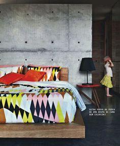 patterns in the bedroom #decor #quartos #bedrooms