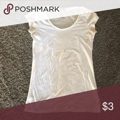 White t-shirt Solid playing white T Energie Tops Tees - Short Sleeve