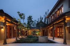 Six Senses Qing Cheng Mountain, Chengdu, China: in pictures Chinese Courtyard, Chinese Garden, Resort Villa, Resort Spa, Facade Lighting, Garden Villa, Indoor Pools, Courtyard House, Indochine