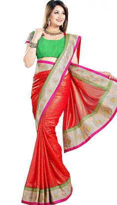 Get Beautiful Latest Deep Red #GeorgetteDesignerSaree Product code: KDS-39513 Price: INR 3500 (Unstitch Blouse), Color: Deep Red Shop Online now: http://www.efello.com.my/Saree_Beautiful-Latest-Deep-Red-Georgette-Designer-Saree,-Sari_37873