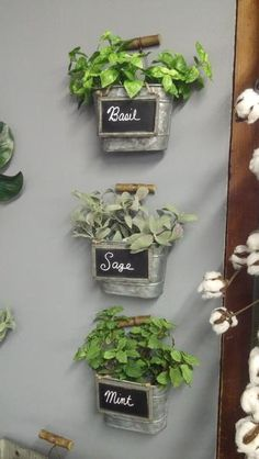 Our beautiful faux herbs come in Mint, Sage and Basil. Does not include containers or chalkboards.