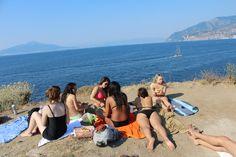 Beach day after class at I Bagni della Regina Giovanna