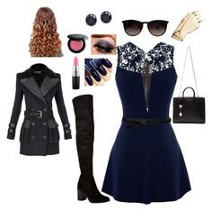 Undercover spy by goddessofbacon on Polyvore featuring polyvore, fashion, style, Warehouse, AX Paris, Balmain, Carvela Kurt Geiger, Yves Saint Laurent, Jack Vartanian, Ray-Ban, Lowie, Bobbi Brown Cosmetics, MAC Cosmetics, women's clothing, women's fashion, women, female, woman, misses and juniors