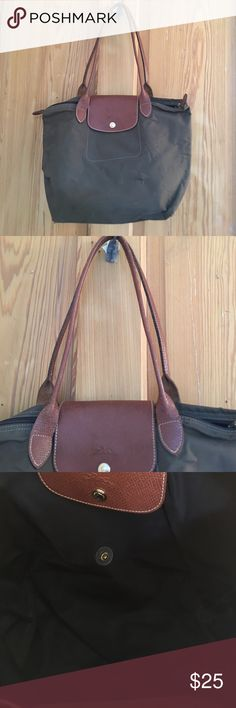 Longchamp purse This purse is great year round! Love the olive green color. There are visible discrepancies to it and a snag in the bag corner but it all appears on the back so most likely won't be seen Longchamp Bags Shoulder Bags