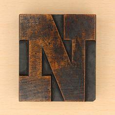 wood type letter N by Leo Reynolds, via Flickr