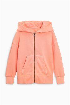 Peach Zip Through Hooded Top (3-16yrs) (960208) | Kč475 - Kč655