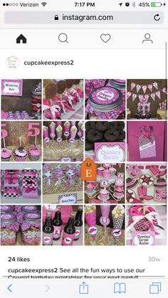 Cowgirl party ideas and favors