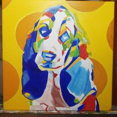 Pop Art Pet Portrait Work in Progress Bassett Hound Puppy 12in x 12in x 1.375in  Blocking in colours using acrylic paint prior to reworking with a final coat of oil.  #nyc #newyork #newyorkcity #manhatten #eastharlem #ilovenyc #contemporaryart #modernart #photooftheday #igersofnyc #newyorkart  #newyorkartist #nyart #popart #petportrait #petpainting #dogpainting #abstractart #commissionedartist #instadog #dogsofinstagram #dog  #puppysofig #puppypainting #bully #instabasset #bassethoundsofig…