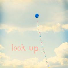 Look Up Fine Art Print Square Typography