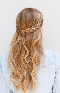 cute braided wavy hair