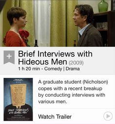 Brief interviews with a hideous man