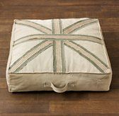 Playroom - Union Jack Recycled Canvas Floor Pillow | Floor Pillows | Restoration Hardware Baby & Child