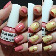 """""""Sizzling Sunset"""" from Polish Me Silly thermal polish. Great for when you don't have time for nail art -- Swatch by Amber Armstrong-- Instagram@armstrongnails -- Click on picture to go to Polish Me Silly's site for purchase."""