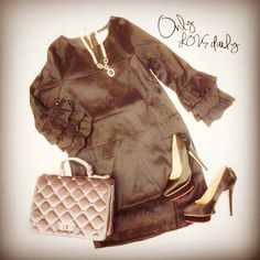 「コクーンワンピース #onepiece #accessory #necklace #shoes #pumps #bag #2way #old #onlylovedaily」