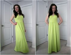 ANOTHER maxi dress--bright limey green