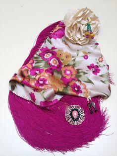 Seda flores bugambilla y fleco rosa /2015