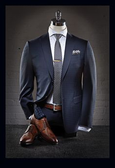 Z Zegna Shadow Check Suit