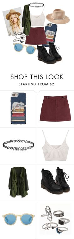 """""""Hi"""" by sarethoran on Polyvore featuring moda, Casetify, Marc by Marc Jacobs, Chicwish, Illesteva, Mudd e Eugenia Kim"""