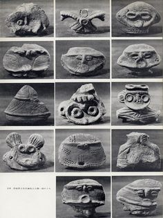 """windthebastard: """" Some of the most fascinating pottery ever made in Japan dates back to the Jomon period (10,000 BC to 300 BC). The open-pit fired large vessels had the most amazing decorative..."""