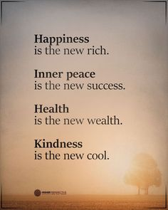 "Higher Perspective on Instagram: ""Happiness is the new rich."" Happy Quotes, Best Quotes, Yoga For All, Worth Quotes, Love You, Let It Be, Inner Peace, True Words, Good Advice"