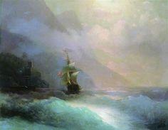 Seascape - Ivan Aivazovsky - Completion Date: 1870