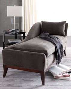 """Upholstered in Duxbury charcoal polyester velvet. 74.5""""W x 33""""D x 35""""T. USA/imported."""