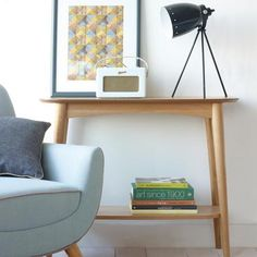 Skandi Oak Console Table with Shelf | Dunelm