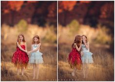 red headed twin girls outdoors in Sedona, AZ