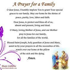 prayers for family Angel Prayers, Bible Prayers, Catholic Prayers, Short Prayers, Special Prayers, Sage Cleansing Prayer, Catholic Prayer For Protection, Prayer For My Family, I Need God