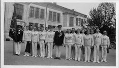 Statsarkivet i Kongsberg. I pinsen for 86 år siden var det turnstevne i Porsgrunn! Her stilte også turnere fra Drammen, hvor de fikk muligheten til å vise frem alle sine medaljer. Bildet er fra fotoalbum etter turnforeningen Gymnos.