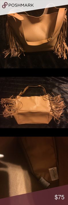 Jessica Simpson Fringe Handbag Brand New Never Used. Caramel colored. Magnetic closure. Jessica Simpson Bags