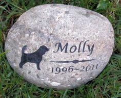 CUSTOM Dog Pet Memorial Stone 9-10 Inch Memorial Stone Cemetery Burial – Pet Memorial Stones Personalized Pet Stone Memorials Pet Memorial Grave Marker Headstone