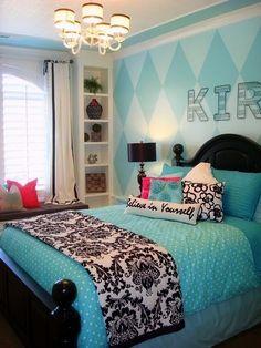Bedroom Design Ideas Teal teal bedroom idea for teenage girl bedroom decor | decorative