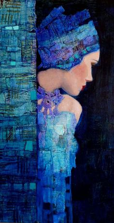 Pin ~ by Marjie ~ Theme: Color Match ~ artworks that are painted primarily in any or all of the colors in this piece by Richard Burlet. Klimt Art, Art For Art Sake, Portrait Art, Beautiful Paintings, Figurative Art, Love Art, Collage Art, Amazing Art, Illustration Art