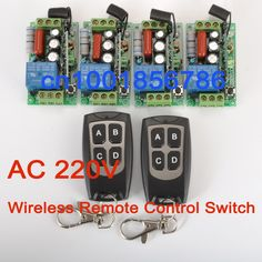 23.99$  Buy here - http://alibo6.shopchina.info/go.php?t=1638510014 - wireless Power Switch System 4 Receiver&2Transmitter 220V 1CH 10A output state is adjusted 1CH 1000W Non-Latched/self-Latched 23.99$ #bestbuy