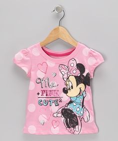 Take a look at this Pink 'Me + Pink' Minnie Heart Tee - Toddler on zulily today!