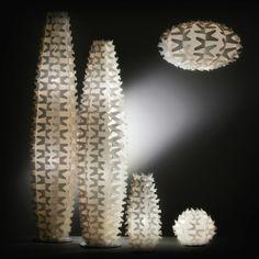 Cactus, una collezione creata da Slamp che evidenzia effetti luce ombra davvero suggestivi