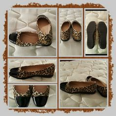 Leopard Print Ballet Flats Size 10 M  These are very comfortable and stylish flats by comfortview a brand exclusive to woman within. The size is 10 medium. I wore these like 2 times as the pictures show they're in Excellent Condition. Woman Within  Shoes Flats & Loafers