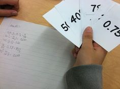 Go Fish!  Fraction, decimal, percent