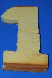 How to make a cake shaped like a number 1