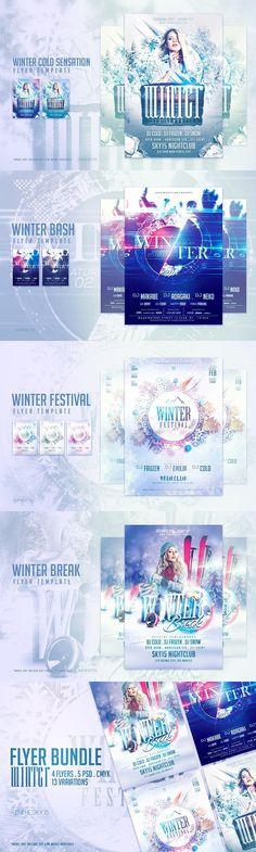 Winter Festival Flyer Template Pinterest Winter festival, Flyer