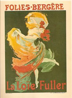 JULES CHÉRET : loie Fuller at the Folies-Bergère [ green and red state ] ( Paris , Chaix , 1893 ) ; 48 13/16 x 34 5/8; (M.A. 73, issue 19, June 1897).