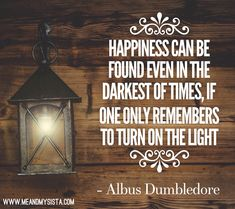 Happiness Albus Dumbledore, One And Only, The Darkest, Happiness, Inspirational, Happy, Decor, Decoration, Bonheur