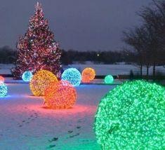 Déco de Noël : faire une boule lumineuse pour le jardin