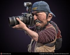 Title: Photographer  Name: Rui Cheng  Country: China  Software: 3ds max, Photoshop, ZBrush