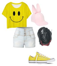 """Jyushimatsu Girl"" by the-mighty-fail on Polyvore featuring Converse, Francesco Ballestrazzi, Wilson and LE3NO"