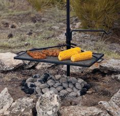 Mobile Product: Camp Chef Mountain Man Over-The-Fire Grill and Griddle : Cabela's Campfire Grill, Fire Pit Grill, Open Fire Cooking, Cooking On The Grill, Camping Stove, Camping Meals, Camping Hacks, Barbecue Grill, Grilling