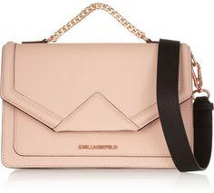 Karl Lagerfeld Klassik textured-leather shoulder bag on shopstyle.com